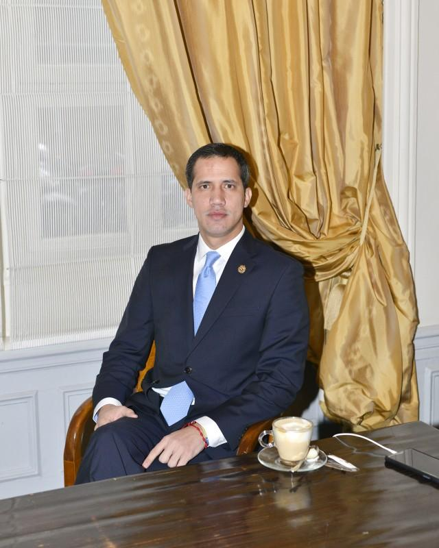 Juan Guaidó, Paris, for Le Monde.