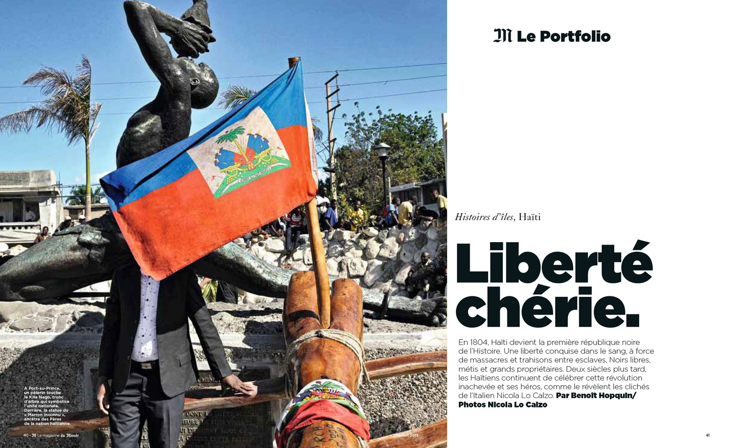 Ayiti published in Le Monde M