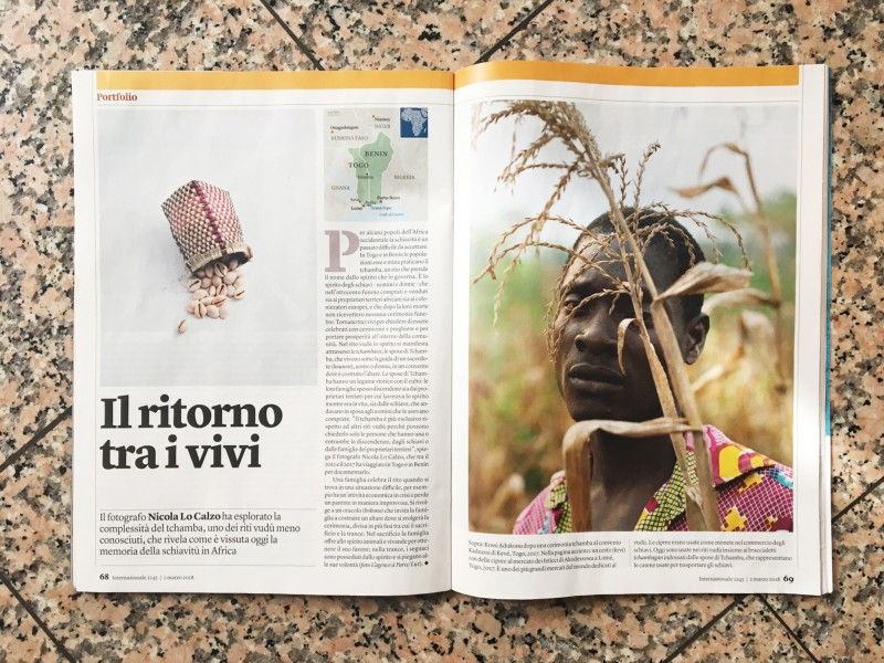 The series Tchamba published in Internazionale